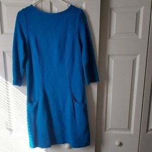 Boden long sleeve blue dress with pockets